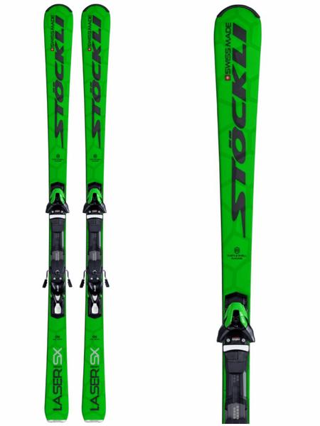 Stöckli Laser SX med SRT Speed Green Black 412 binding